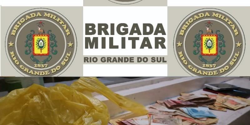 BRIGADA PRENDE CASAL POR TRÁFICO DE DROGAS