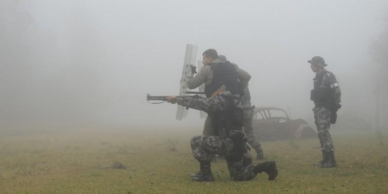 Pelotão de força tática do1º BPAT realiza instrução