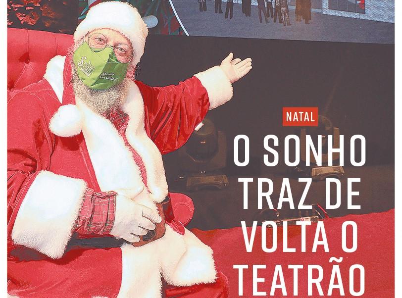 Papai Noel garante a reforma do Teatrão